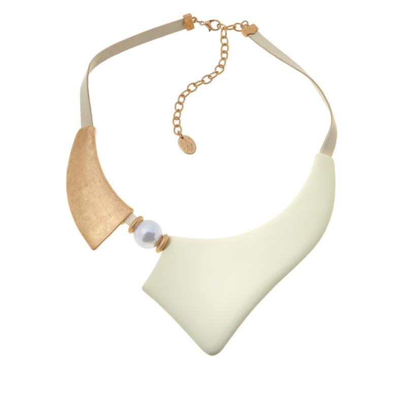 """MarlaWynne 17"""" Two-Tone Abstract Collar Necklace"""
