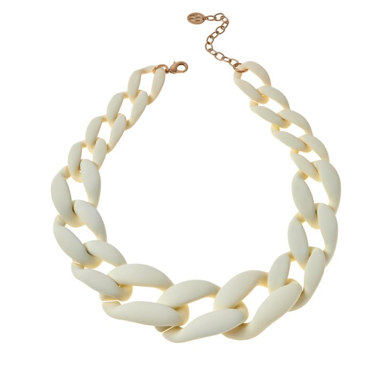 """MarlaWynne 22-1/2"""" Graduated Rubber-Finish Link Necklace"""