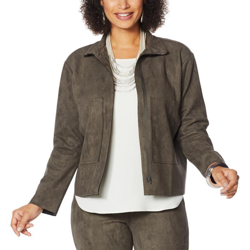 MarlaWynne Faux Suede Jacket