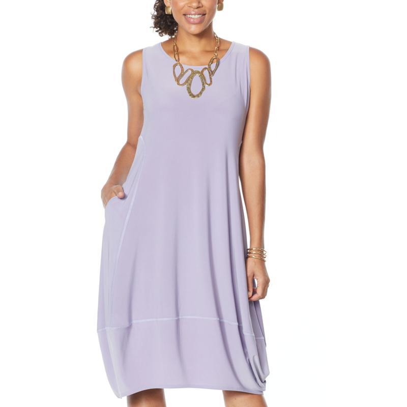 MarlaWynne Matte Jersey Sleeveless Dress with Pockets