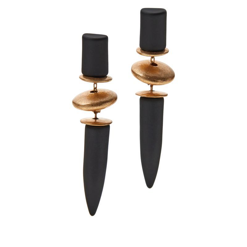MarlaWynne Rubber and Metal Elongated Drop Earrings