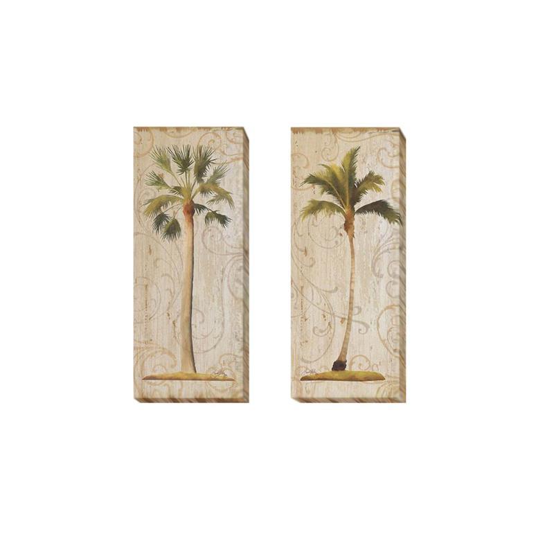 "Medley  ""Palm Swirls I & II"" 2pc Wall Art/Medium"