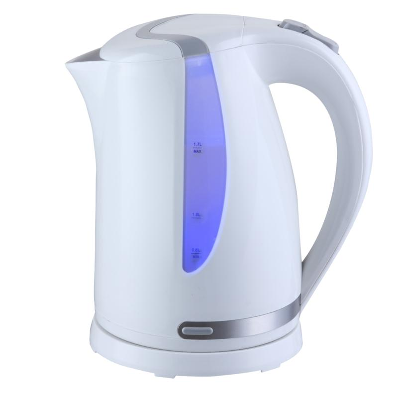 MegaChef 1.7 Liter Plastic Electric Tea Kettle - White