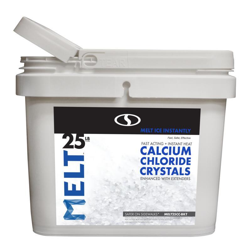 MELT 25-pound Bucket Calcium Chloride Crystals Ice Melter
