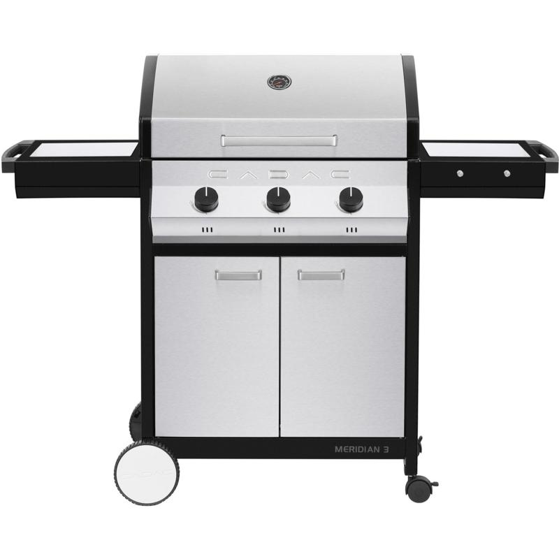 Meridian 3 Propane BBQ Grill with 3 Burners, Cart and Side Tables