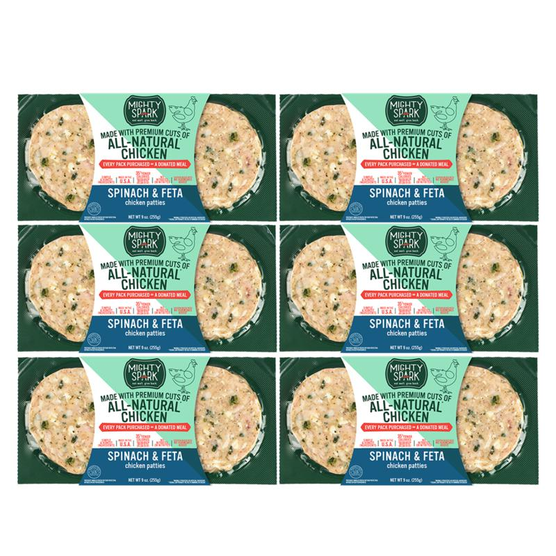 Mighty Spark All Natural 12-pk Spinach Feta Chicken Patties Auto-Ship®
