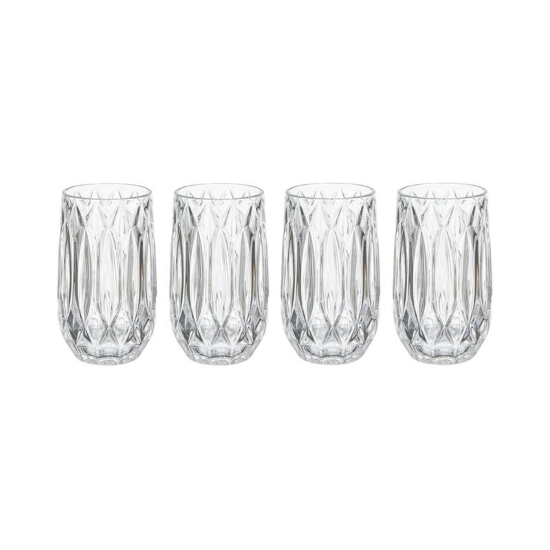 Mikasa Saxon Highball Glass Set of 4
