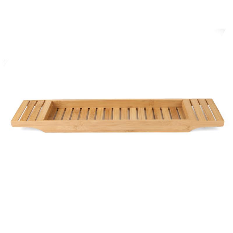 Mind Reader Bamboo Bathtub Caddy Tray Organizer
