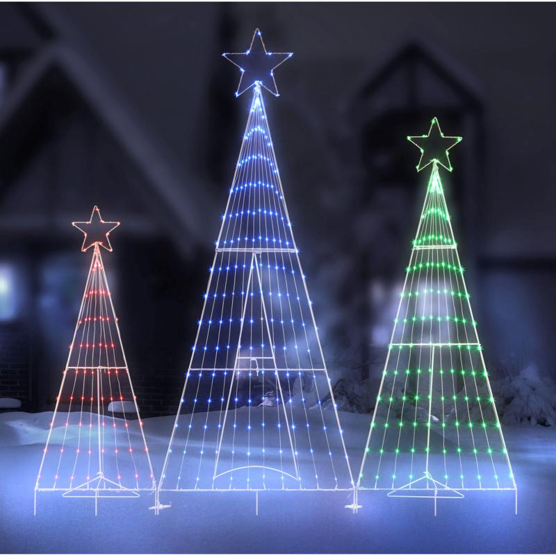 Mr. Christmas 3-Tree LED Folding Forest Indoor/Outdoor Decoration