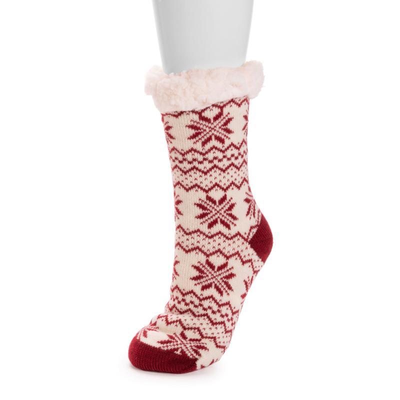 MUK LUKS Patterned Cabin Socks