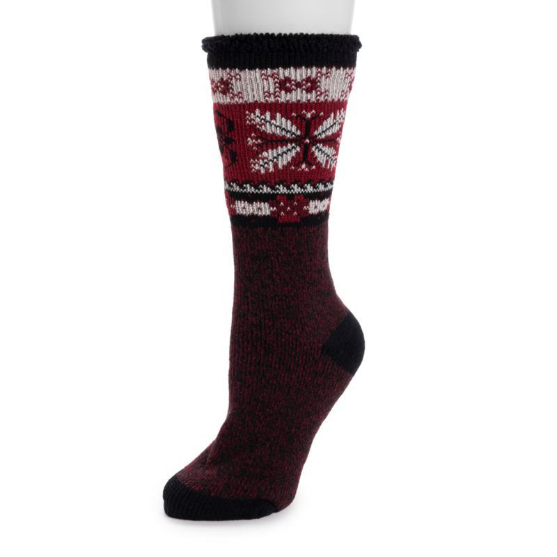 MUK LUKS Women's Heat Retainer Thermal Socks