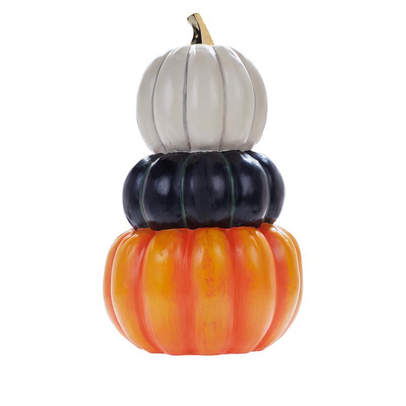 Multi-Colored Indoor/Outdoor Pumpkin Stack