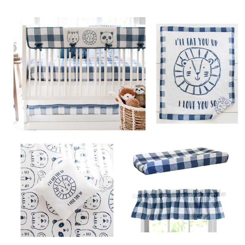 My Baby Sam Animal Parade 9-piece Crib Set