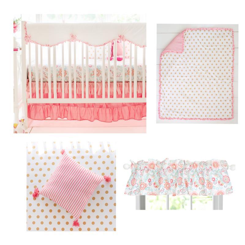 My Baby Sam Boho Baby 8-piece Crib Bedding Set