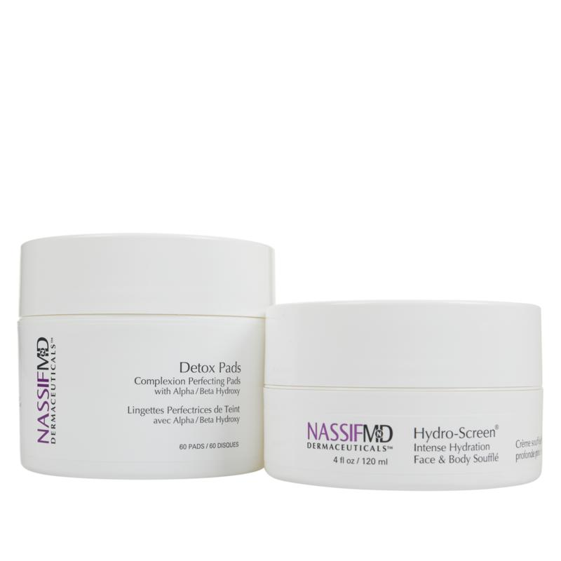 NassifMD® Detox Pads and Hydro-Screen® Face & Body Souffle