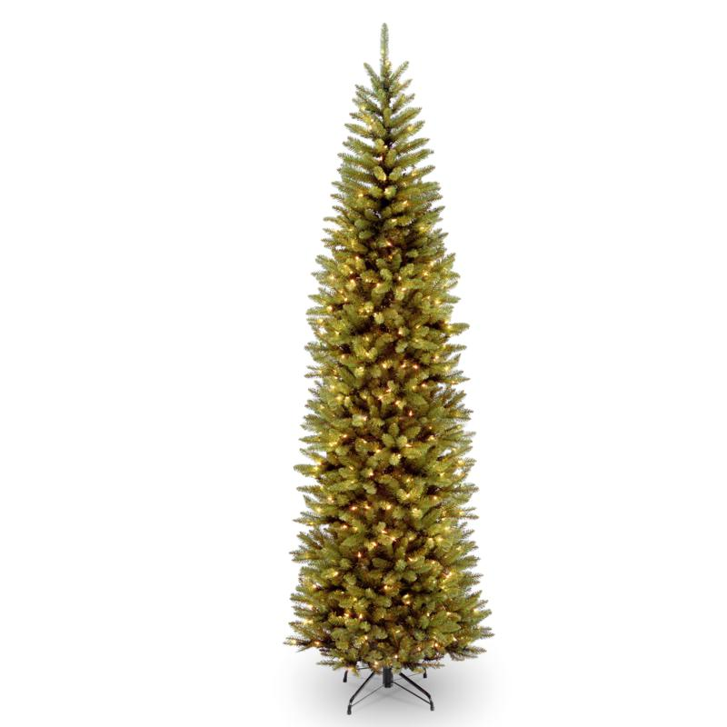 National Tree 9' Kingswood® Fir Pencil Tree with 500 Clear Lights