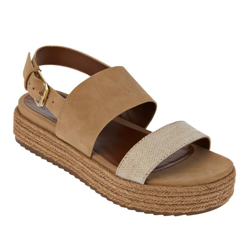 Naturalizer Patience Espadrille Jute-Wrapped Flatform Sandal