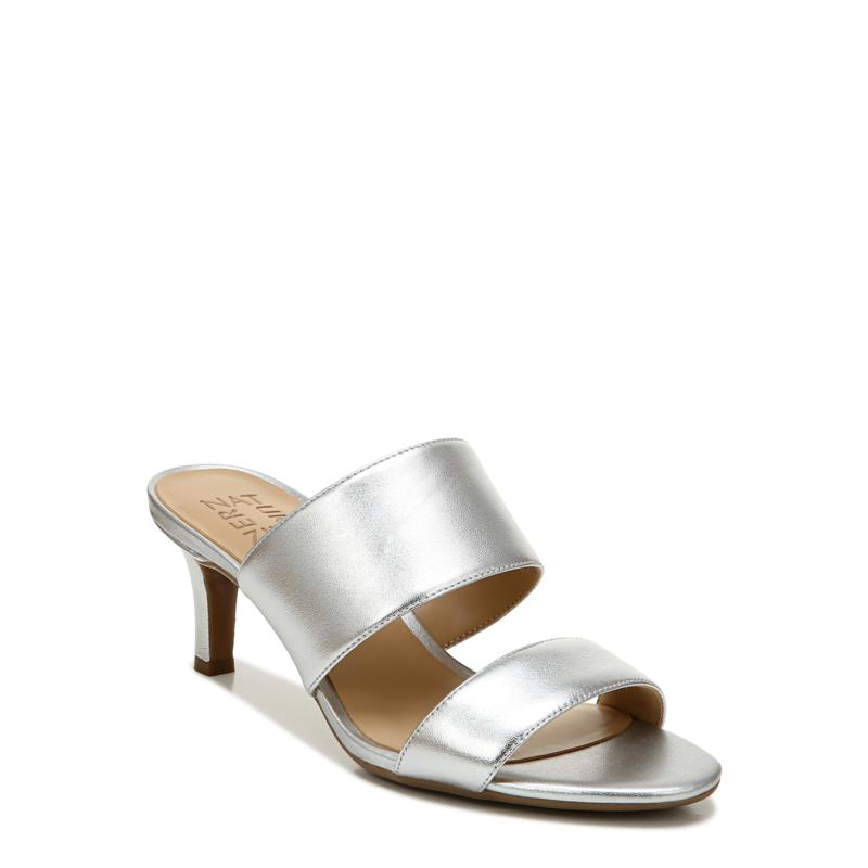 Naturalizer Tibby Leather Heeled Slide Sandal