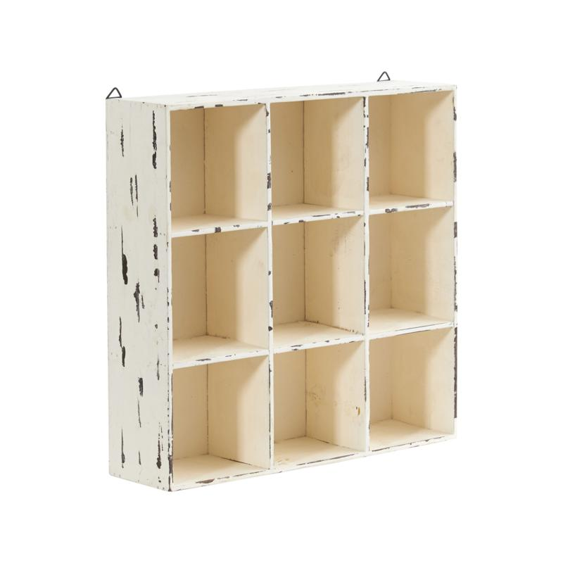 "Nearly Natural 16"" Decorative Cube Wall Organizer"