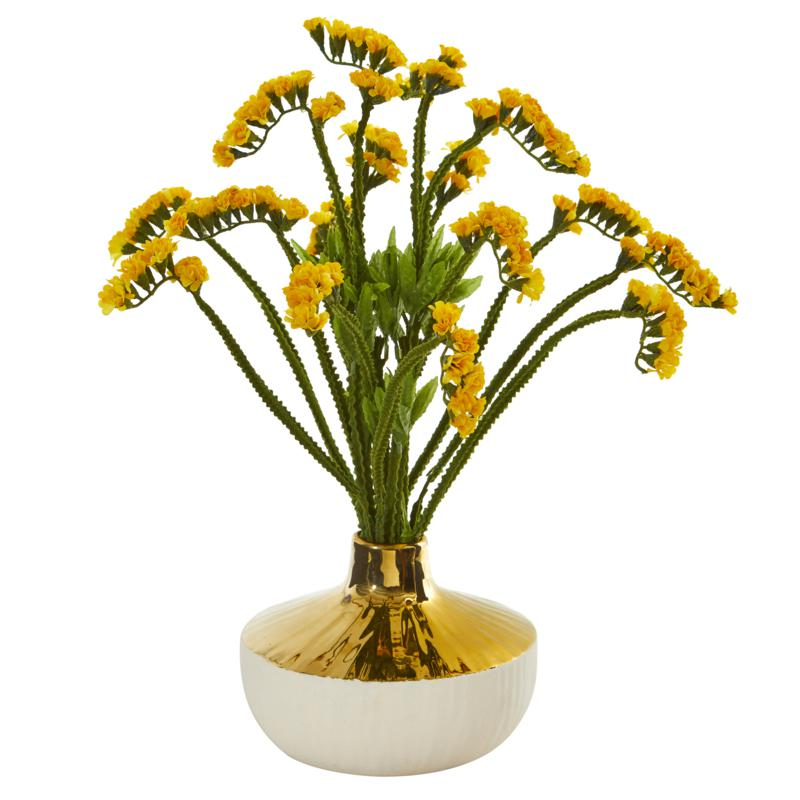"""Nearly Natural 17"""" Artificial Baby Breath Arrangement in Vase"""
