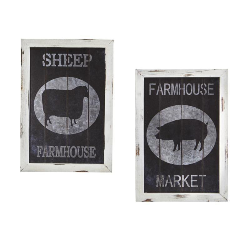 Nearly Natural 2-piece Farm to Table Wall Decor Set