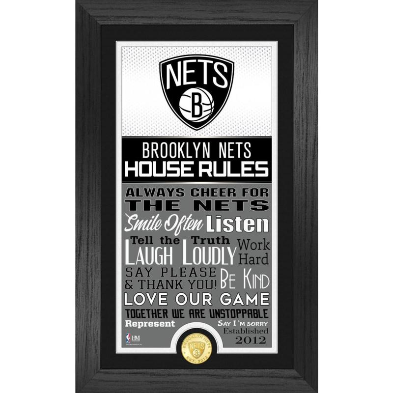 Officially Licensed Brooklyn Nets House Rules Bronze Coin Photo Mint