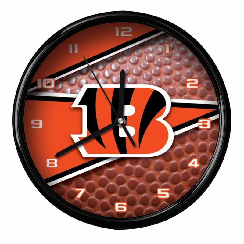 Officially Licensed Cincinnati Bengals Team Football Clock