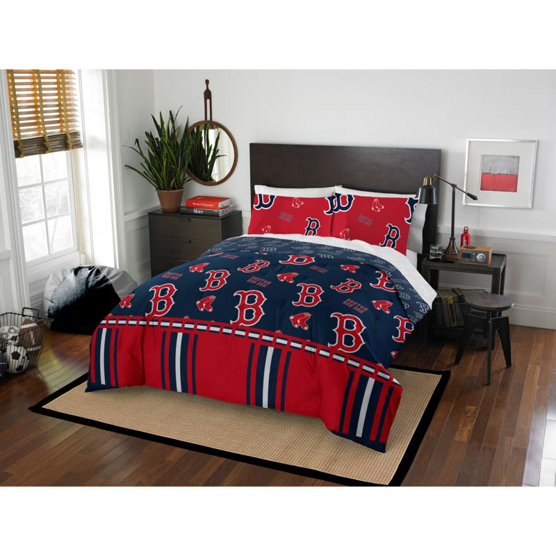 Officially Licensed MLB Queen Bed in a Bag Set - Boston Red Sox