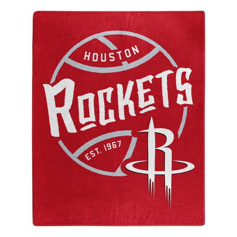Officially Licensed NBA Black Top Raschel Throw Blanket - Rockets