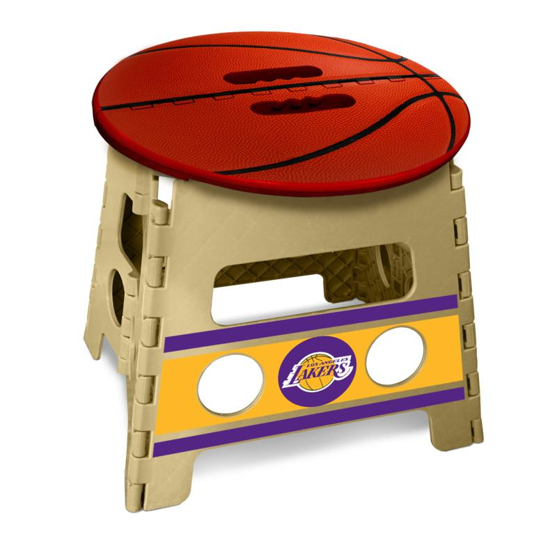 Officially Licensed NBA Folding Step Stool - Los Angeles Lakers