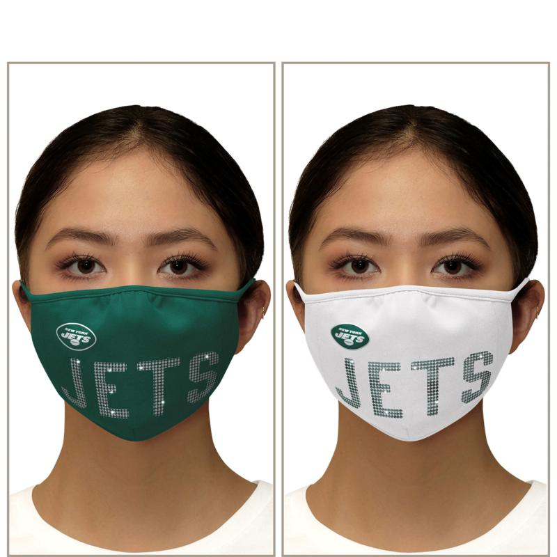 Officially Licensed NFL 2-pack Bling Face Covering by Glll
