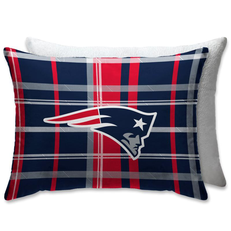 """Officially Licensed NFL 20""""x26"""" Plush Bed Pillow-New England Patriots"""