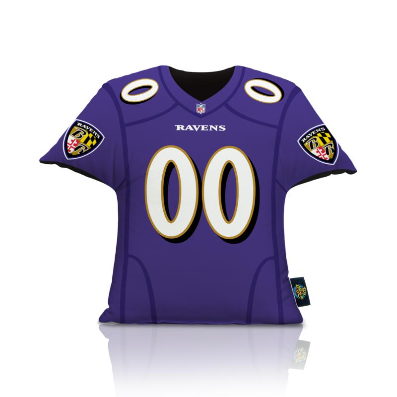 new! Officially Licensed NFL Big League Jersey Pillow - Baltimore Ravens