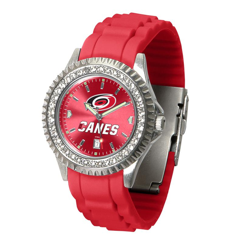 Officially Licensed NHL Sparkle Series Watch - Carolina Hurricanes