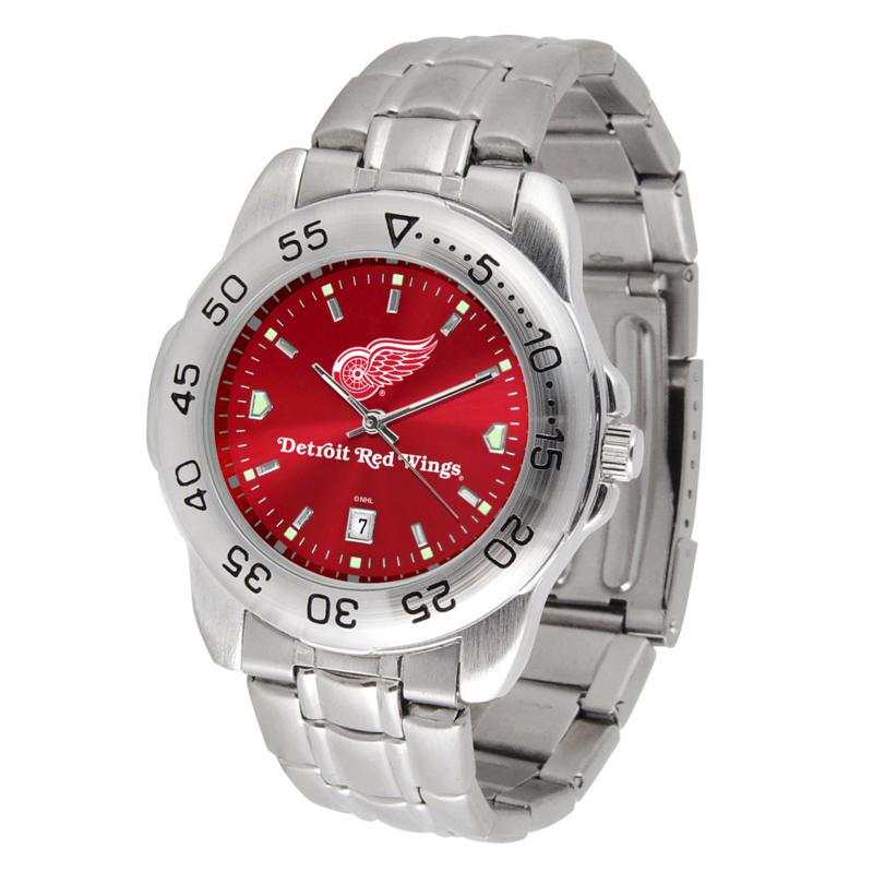 Officially Licensed NHL Sport Steel Series Watch - Detroit Red Wings