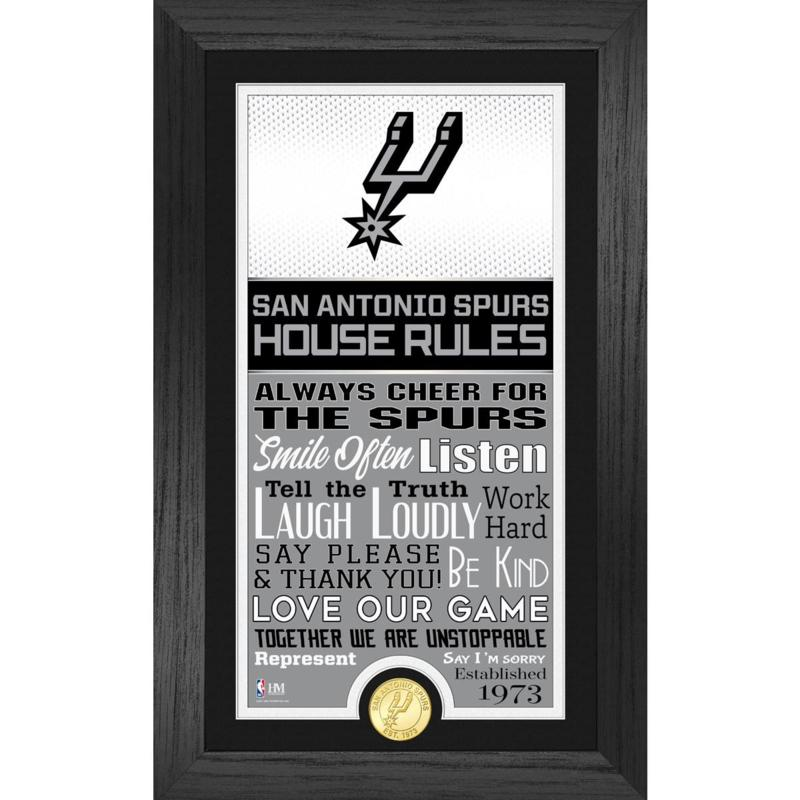Officially Licensed San Antonio Spurs House Rules Coin Photo Mint