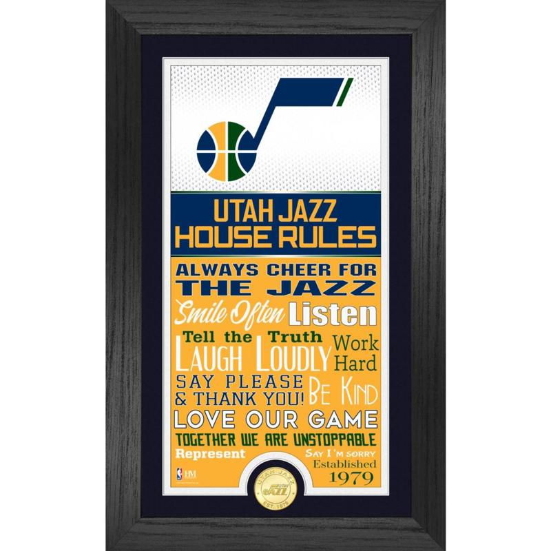 Officially Licensed Utah Jazz House Rules Bronze Coin Photo Mint