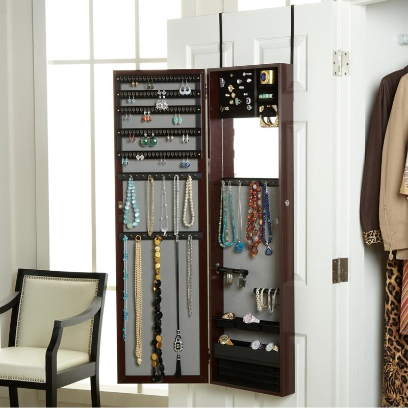 Over The Door 48 Jewelry Armoire With Full Length Mirror 1793084 Hsn