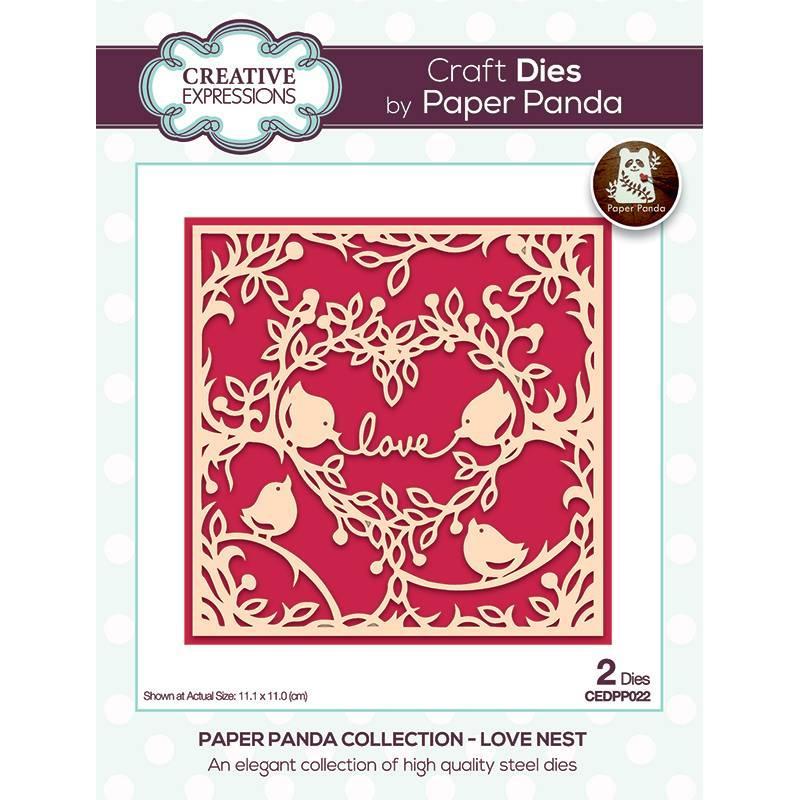 Paper Panda Love Nest Craft Die