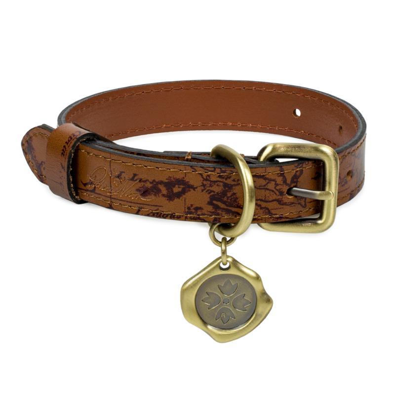 Patricia Nash Adjustable Leather Pet Collar - XS
