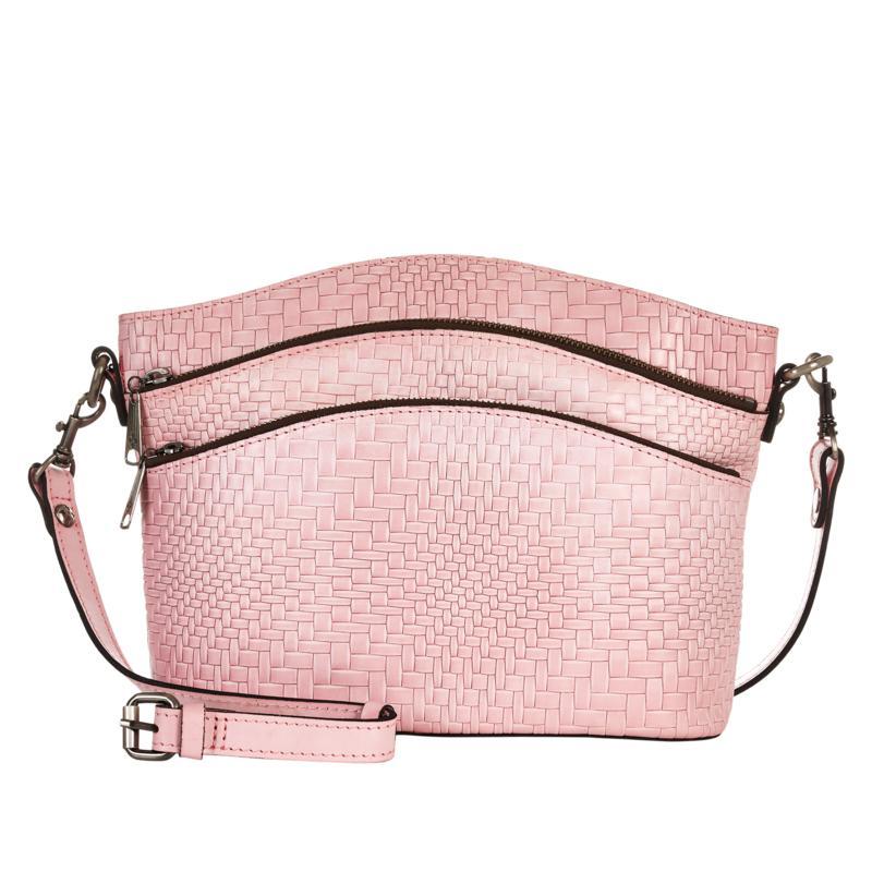 Patricia Nash Lorraine Leather Triple-Zip Crossbody Bag