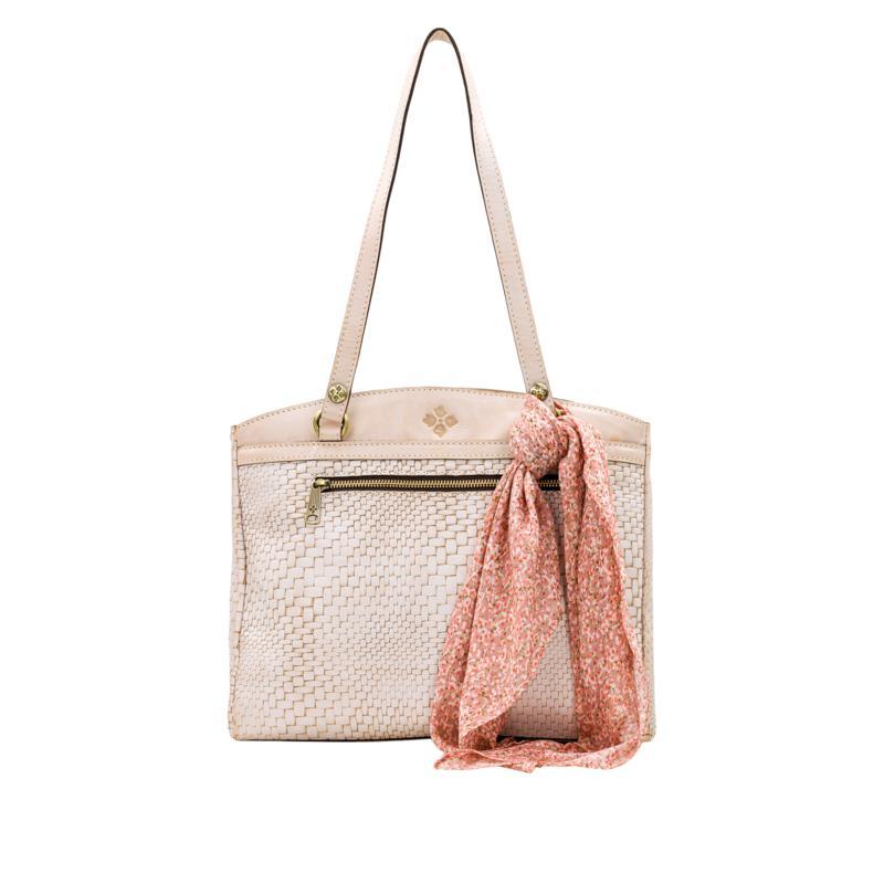 Patricia Nash Poppy Leather Top-Zip Tote