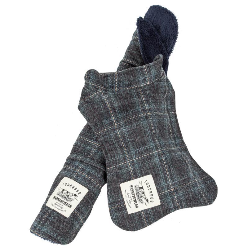 Pet Life 2-in-1 Windowpane Plaid Dog Jacket w/Matching Dog Mat - XL