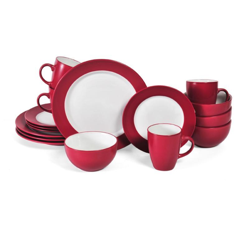 Pfaltzgraff 16-piece Harmony Red Dinnerware Set