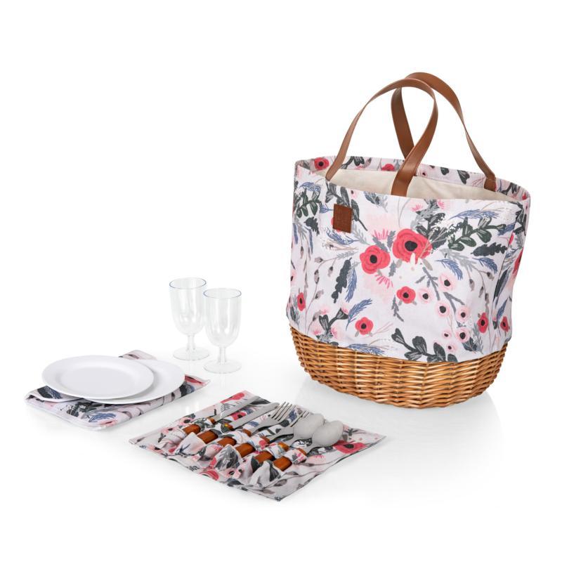 Picnic Time Promenade Basket - Floral Pattern
