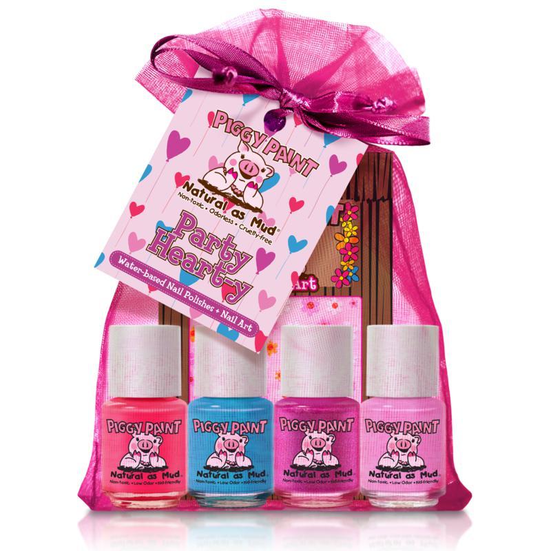 Piggy Paint Party Heart-y 4-pack