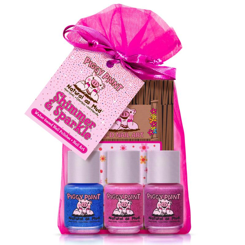 Piggy Paint Shimmer and Sparkle 3-pack