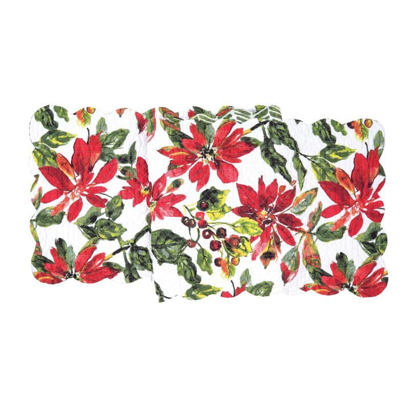 Poinsettia Berries Table Runner