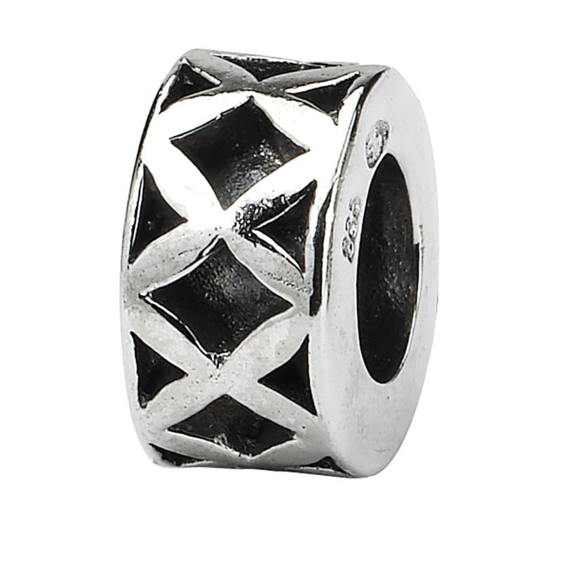 Prerogatives Sterling Silver X Spacer Bead