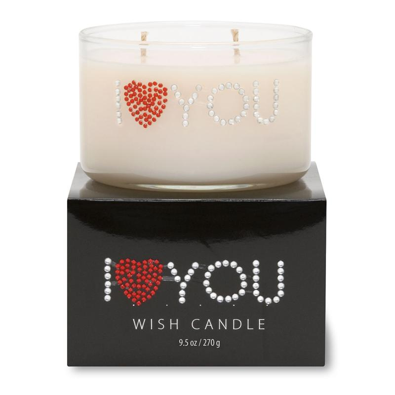 """Primal Elements """"I Heart You"""" 9.5-oz. Wish Candle"""